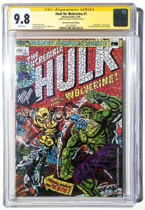 Hunt for Wolverine #1, Shattered Comics Hulk 181 Homage Mosaic Variant, CGC SS 9.8 Autographed by Humberto Ramos @ Torpedo Comics in Las Vegas on 11/17/2018