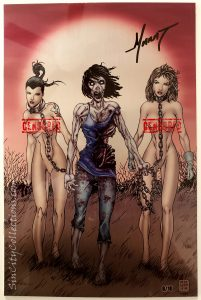 Notti & Nyce Vol. 2 #1 (Counterpoint Entertainment, '13) Marat Mychaels Walking Dead #19 Metal Cover Limited Edition, No. 8 of 10