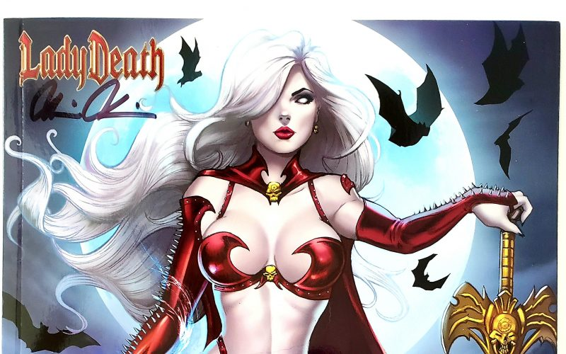 Lady Death: Merciless Onslaught #1, Billy Tucci Scarlet Edition Signed By Brian Pulido w/ COA Header