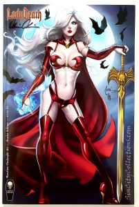 Lady Death: Merciless Onslaught #1, Billy Tucci Scarlet Edition Signed By Brian Pulido w/ COA