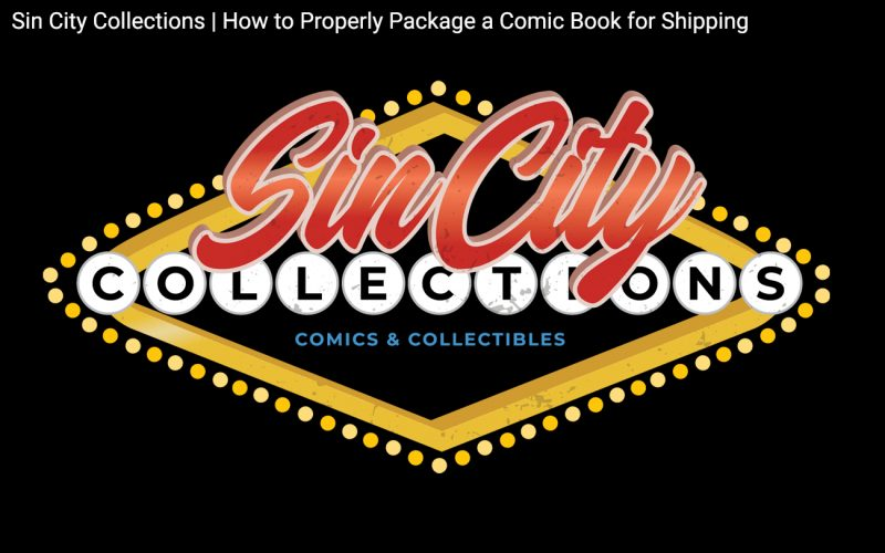 Sin City Collections | How to Properly Package a Comic Book for Shipping Header