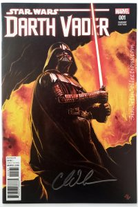 Star Wars: Darth Vader Vol. 2, #1 (Marvel, '17) 1:25 Adi Granov Variant Cover, Signed by Charles Soule