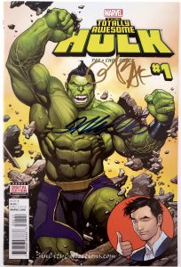 Totally Awesome Hulk #1 (Marvel, '16) Signed by Greg Pak & Frank Cho