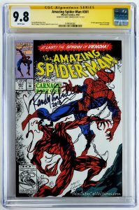 Amazing Spider-Man #361 (Marvel, '92), 1st Appearance of Carnage, CGC SS 9.8, Signed by Randy Emberlin