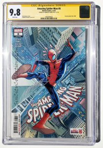 Amazing Spider-Man, Vol. 5, #8 (Marvel, '18) CGC SS 9.8, Signed by Humberto Ramos | 1st Appearance of Odessa Drake