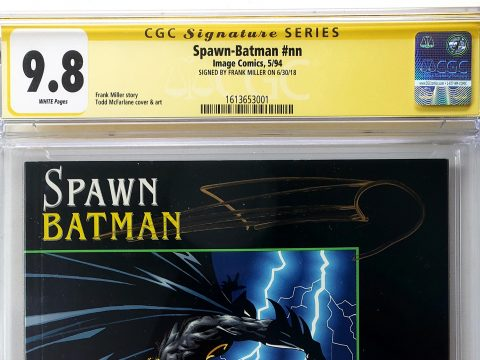 Spawn Batman #1 (Image, '94), CGC SS 9.8 Signed by Frank Miller Header
