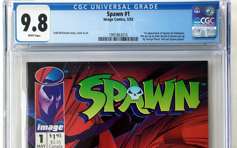 Spawn #1 (Image, '92), CGC 9.8 1st Appearance of Spawn Header