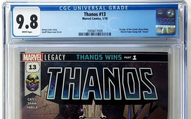Thanos Vol. 2 #13 (Marvel, '18), CGC 9.8, 1st Appearance of the Cosmic Ghost Rider Header