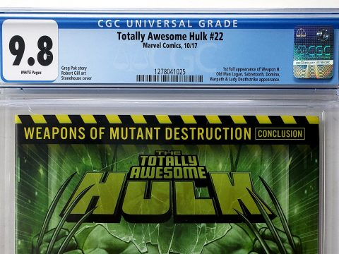 Totally Awesome Hulk #22 (Marvel, '17), CGC 9.8, 1st App of Weapon H Header