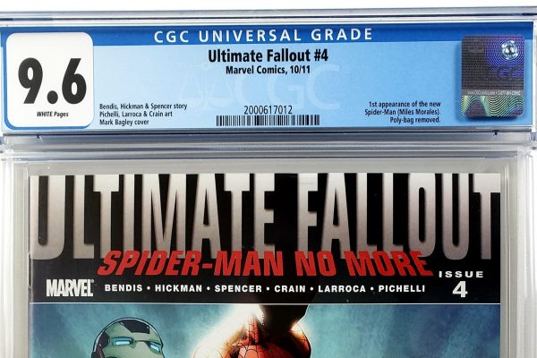 Ultimate Fallout #4 (Marvel, '11), 1st Appearance of Miles Morales, CGC 9.6 Header